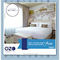 Pay for one night and get an additional night absolutely FREE at OZO Colombo