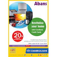 Up to 20% Discount for Credit Cards purchases at Abans