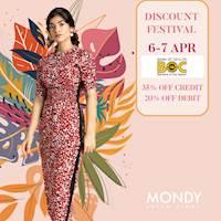 Enjoy 35% off on BOC bank Credit & 20% off on Debit cards at Mondy