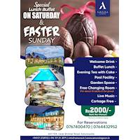 Celebrate the Special lunch buffet on Saturday & Easter Sunday at Amora Lagoon