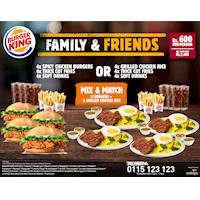 All New Burger King Family & Friends Combo