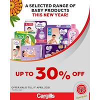 Get up to 30% Off on selected Baby Products at Cargills FoodCity!