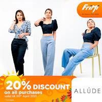 Enjoy a 20% Discount this Avurudu Season at A L L U D E & Co. for all purchases via FriMi