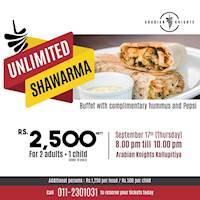 Unlimited Shawarma at Arabian Knights
