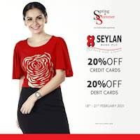 Get 20% discount for Credit and debit cards from Seylan Bank at Spring & Summer