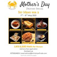 Mother's Day Delivery Special Set Menu for 2 at Ministry of Crab