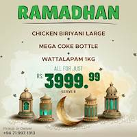 Special offer for Ramadan at Banda's Biriyani