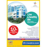 Live a healthy life with Combank Cards at Lanka Hospitals