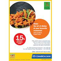 Enjoy 15% Discount for ComBank Credit Cards at Jade