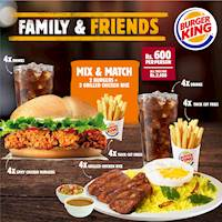 Burger King Family & Friends Combo!!