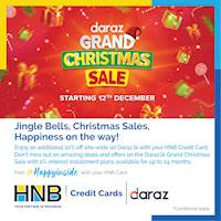 Enjoy an additional 10% off site-wide on Daraz.lk with your HNB Credit Card