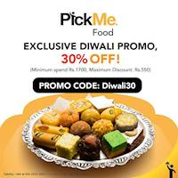 Exclusive Diwali Promo - 30% off at Pick me food from Indulge Desserts Co.