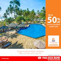 Up to 50% off at Tangerine Beach Hotel Kalutara for Pan Asia Bank Credit Cards