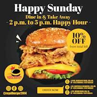 10% Off from total bill at Royal Burger