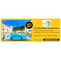 Get 50% off at The Blue Wave - Arugambay for BOC Credit and Debit Cards