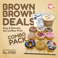 Brown Brown Combo Deals for Rs. 1700 at Gonuts with Donuts