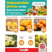 Unbeatable prices on the best local fruits at selected Cargills FoodCity outlets!