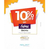 10% OFF on Salma Skirts EXCLUSIVELY for ARAPAIMA Loyalty Members at NOLIMIT