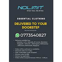 Essential Clothing delivered to your doorstep from Nolimit
