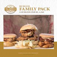 Burger Family Pack - 6 Burgers for Rs. 4,560 at Tea Avenue