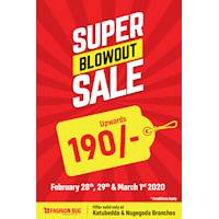 Get Ready For The Super Blowout Sale! Prices From LKR 190/- Onwards at Fashion Bug