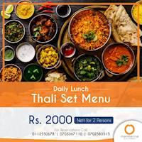Daily Lunch - Thali Set menu at Mandarina Colombo