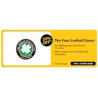 Get 20% Off at The Four Leafed Clover For BOC Credit Card