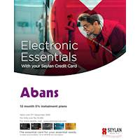 12 months 0% installment plans with your Seylan Credit Card from Abans
