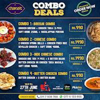 Combo Deals at Chana's