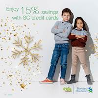Enjoy 15% savings with your SC credit card at The Kids Warehouse