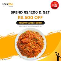 Get Rs.500/- off when you order from Kottu Kade via PickMe Foods
