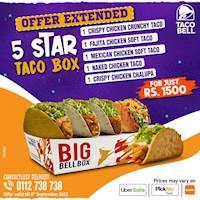 5-star box at Taco Bell