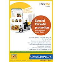 Special PickMe promotion with ComBank Credit Cards