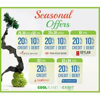 Enjoy exciting Offers this season for selected bank cards at Cool Planet