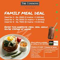 Family Meal Deal at The Commons Coffee House