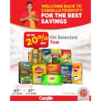Get up to 20% Off on Selected Tea at Cargills Food City