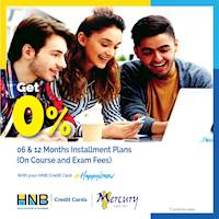 0% + Up to 12 months installment plans for courses and exam fees at Mercury Graduate Campus with HNB Credit Card