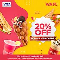20% off for any Visa card at WAFL Outlets during Sinhala & Tamil New Year season