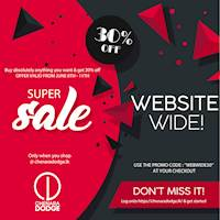 30% OFF ON ANYTHING YOU BUY FROM OUR WEBSITE!