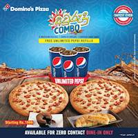 Order special අවුරුදු Combo to get FREE UNLIMITED Pepsi cup refills at Dominos Pizza