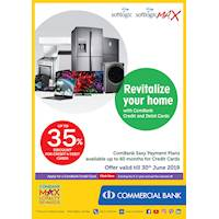 Up to 35% Discount for Credit and Debit Cards purchases at Softlogic Max