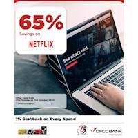 Enjoy 65% Savings on Netflix with DFCC Credit Cards!