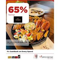 Enjoy 65% savings on the total bill at Cafe Noir with DFCC Credit Cards