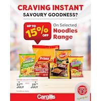 Up to 15% OFF on Selected Noodles Range at Cargills Food City