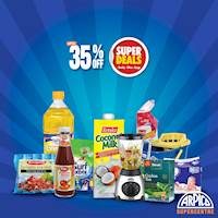 UP TO 35% OFF on over 600 Products including Daily Essentials, Household Items, Furniture & Electronics, until 15th February 2020 at all Arpico Supercentres