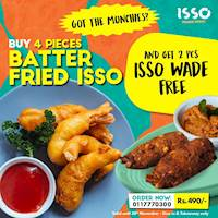 Buy 4 Pcs Batterfried Isso, Get 2 Pcs Isso Wade Free at Isso
