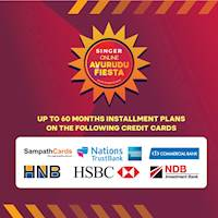 Up to 60 months installment plans on selected cards at Singer