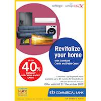 Up to 40% Discount for Combank Credit & Debit Cards at Softlogic