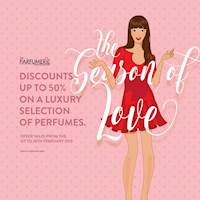 Discounts up to 50% on a luxury selection of perfumes at The Parfumerie