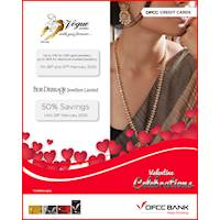 Valentine Celebrations with DFCC Credit Cards! Enjoy up to 50% Off at Fior Drissage Jewellers & up to 45% Off on Diamond Studded Jewellery and up to 17% Off on 22Kt Gold Jewellery at Vogue Jewellers.